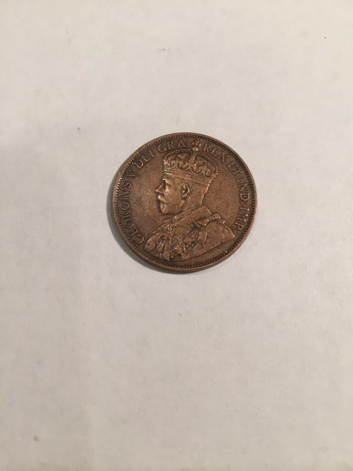 1913 1 (ONE) CENT CANADA