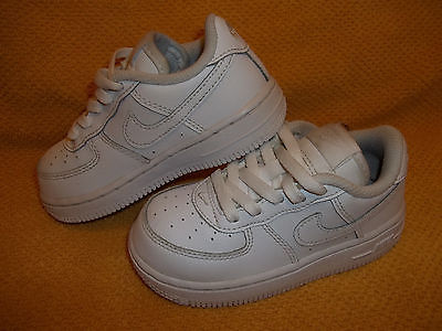 Nike Air Force 1 Low White Athletic Shoes 314194-117 Toddler Size 8C