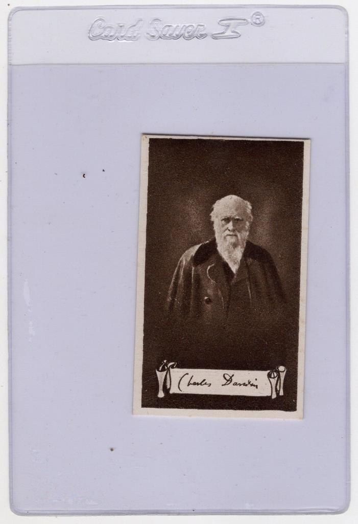 Charles Darwin ~ Nicolas Sarony Celebrities/Autographs Cigarette Card (c.1923)
