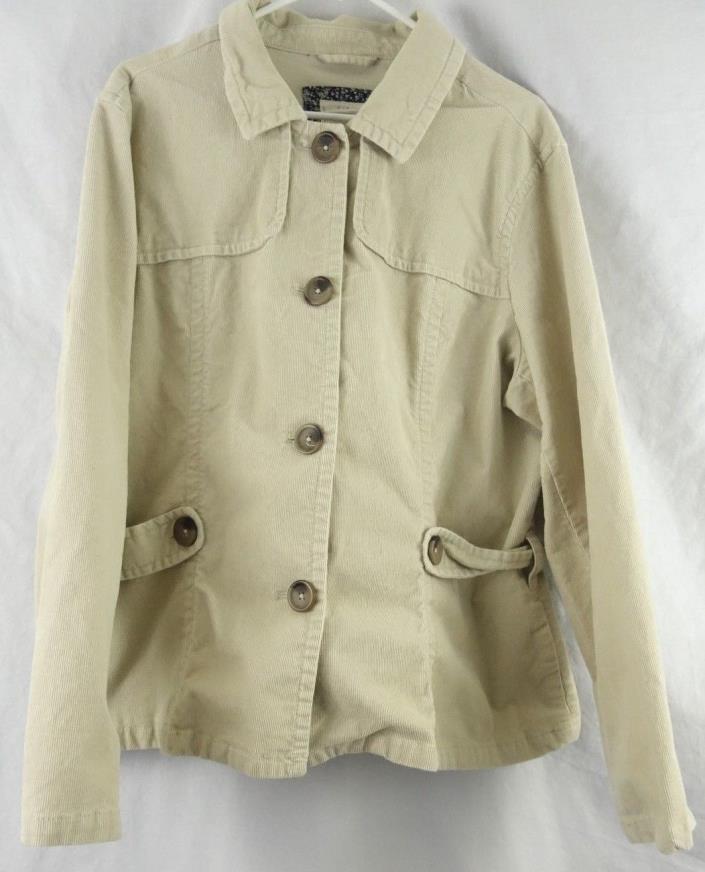Old Navy Beige Corduroy Jacket Coat Belted Women's 2X