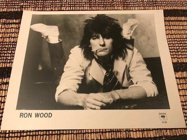 Ron Wood - Rare Press Photo - The Rolling Stones - Mick Jagger - Keith Richards