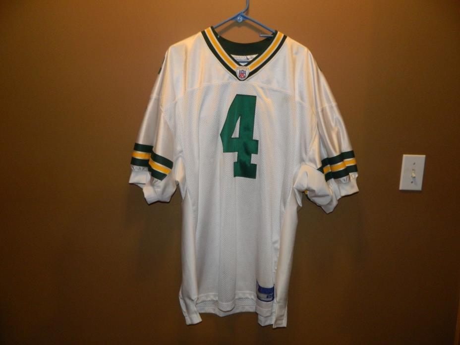 Rare Brett Favre Green Bay Packers Reebok Stitched 52 Jersey Nice XL