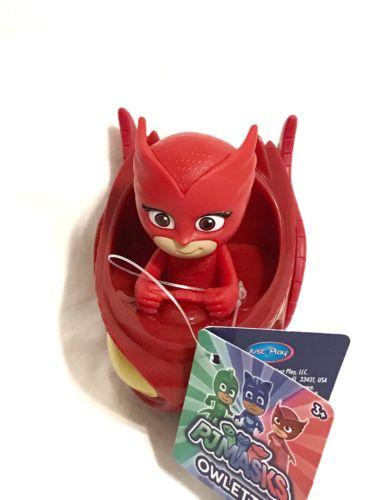 ~ Disney PJ Masks  ~ Mini Car OWLETTE & OWL GLIDER Rolls 3