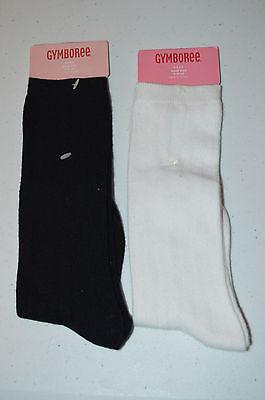 2 PAIR Gymboree Black White Knee Socks 9 10 3 4 NWT