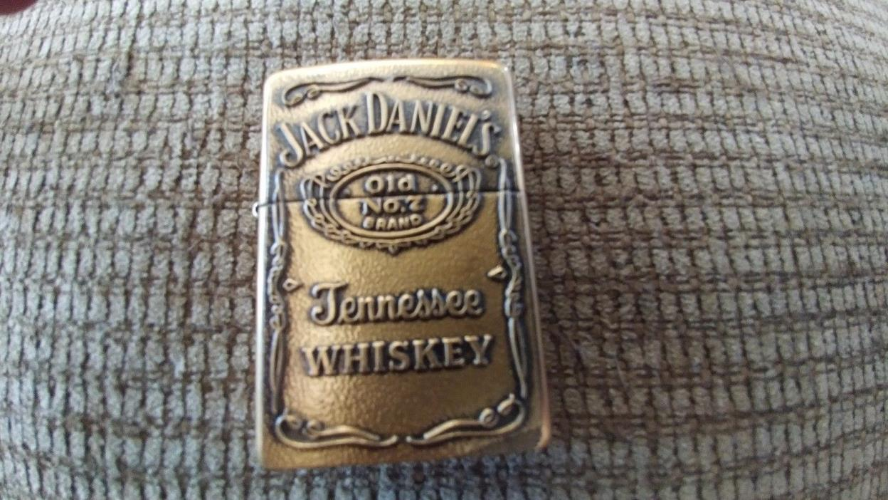 Jack Daniels Old No.7 Brass Zippo Lighter  Free Shipping.