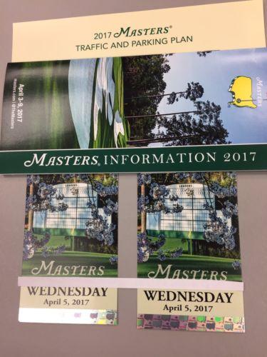 2017 Masters Practice Round 2 Tickets, Par 3 Tournament, Wednesday April 5,2017