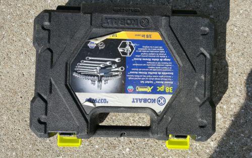 Mechanic's Xtream Tool Set Kit (38-Piece) Kobalt Case Metric Wrenches Sockets