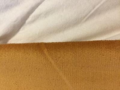 Vintage Fabric Cotton CORDUROY 1970s Harvest Honey Gold Uncut Wale  36