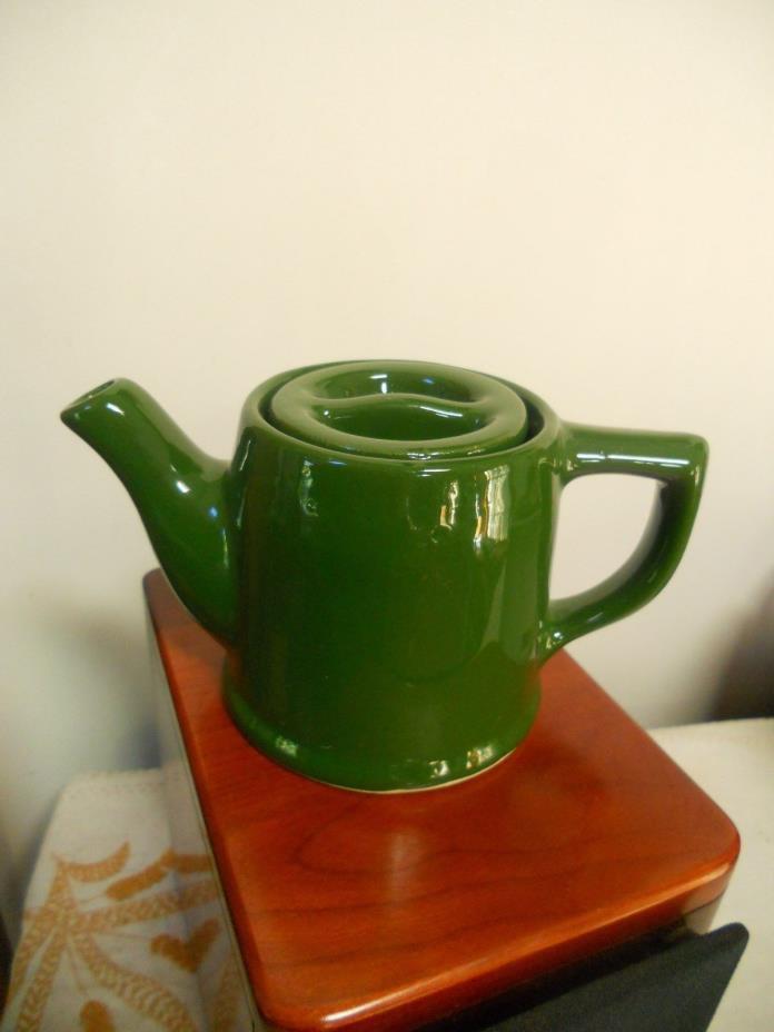 VINTAGE PORCELAIN  TEAPOT , GREEN, 1 CUP