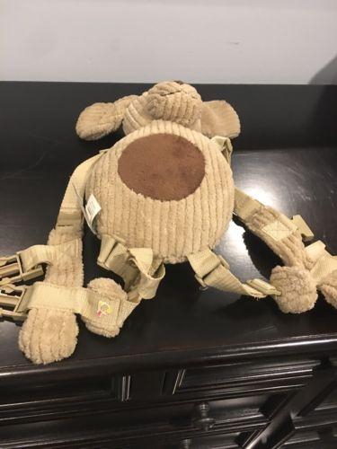 Eddie Bauer 2-in-1 Puppy Dog HARNESS BUDDY Plush Backpack Child Safety Leash