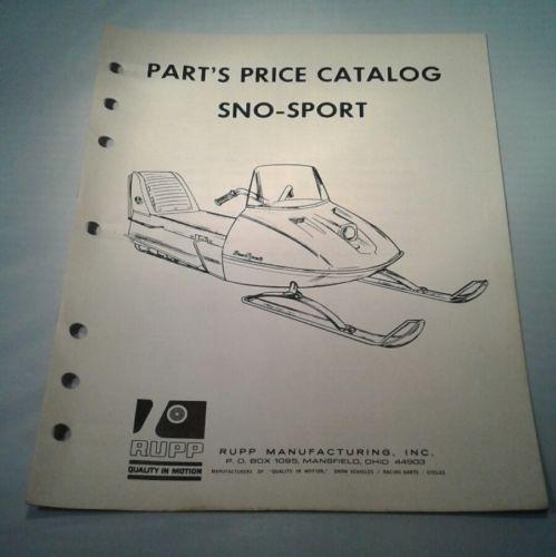 Vintage 1968 RUPP Parts PRICE List Catalog SNO-SPORT Snowmobile BOOK ORIGINAL