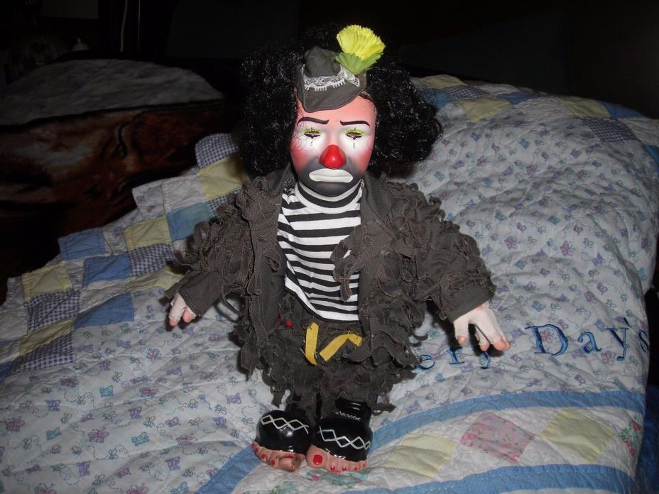 VTG. COLLECTIBLE EMMETT KELLY CLOWN DOLL -DRESSIN TATTERED RAGS