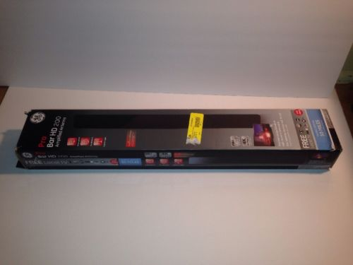 GE Pro Bar HD 200 Amplified Antenna Complete GE 33691 50 Mile Range