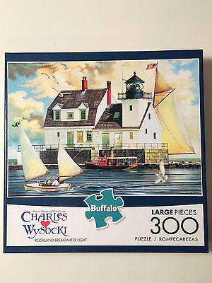 Charles Wysocki Rockland Breakwater Lighthouse 300 Piece Jigsaw Puzzle