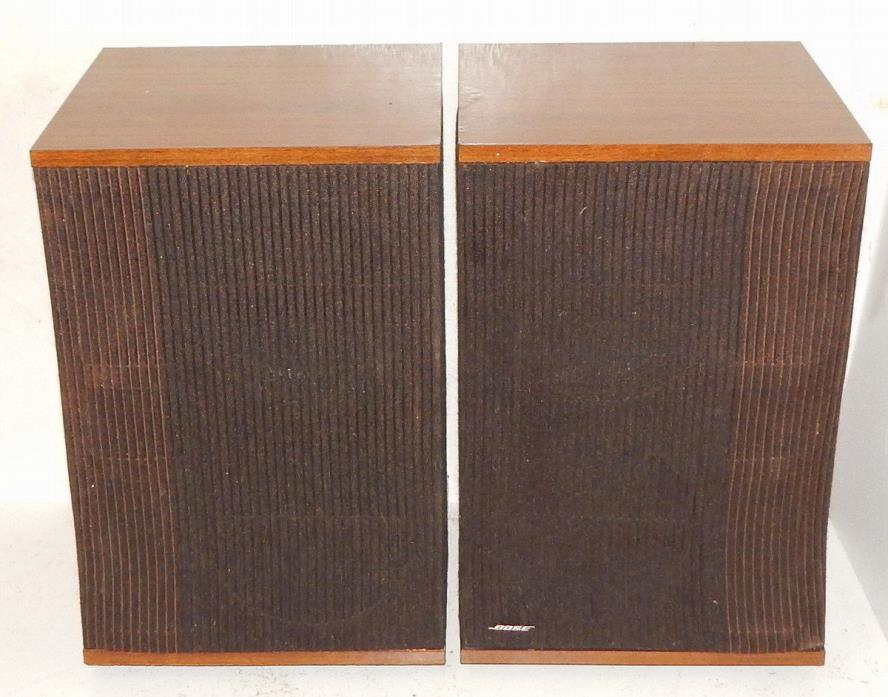 BOSE 501 series IV vintage speakers pair with fresh woofer surrounds