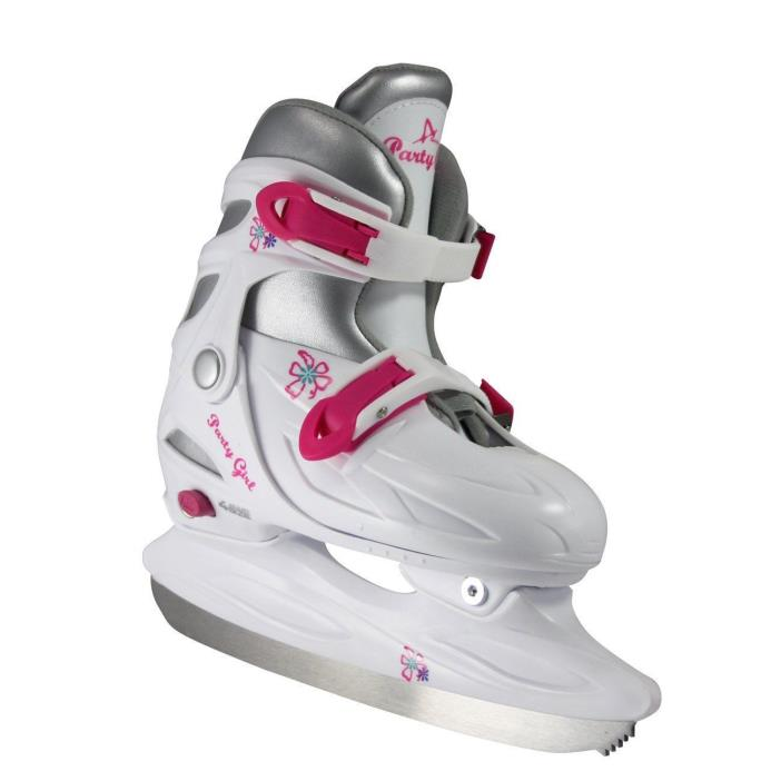 American Athletic Shoe Girl's Party Adjustable Figure Skates White Large Size