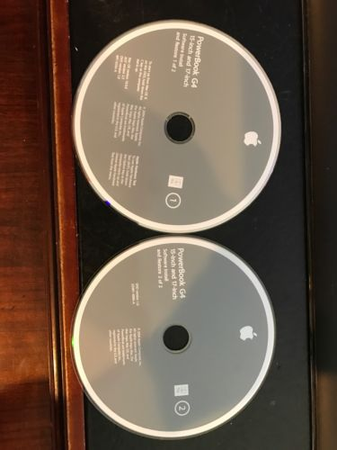 PowerBook G4 12-Inch and 17-inch Software Install & Restore Disc Mac OS 10.3.4 6