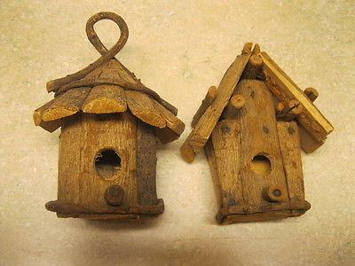 Wood Decorative Birdhouse Hanging Wooden Garden Bird House