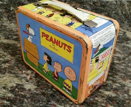 Vintage Peanuts Metal Lunch Box