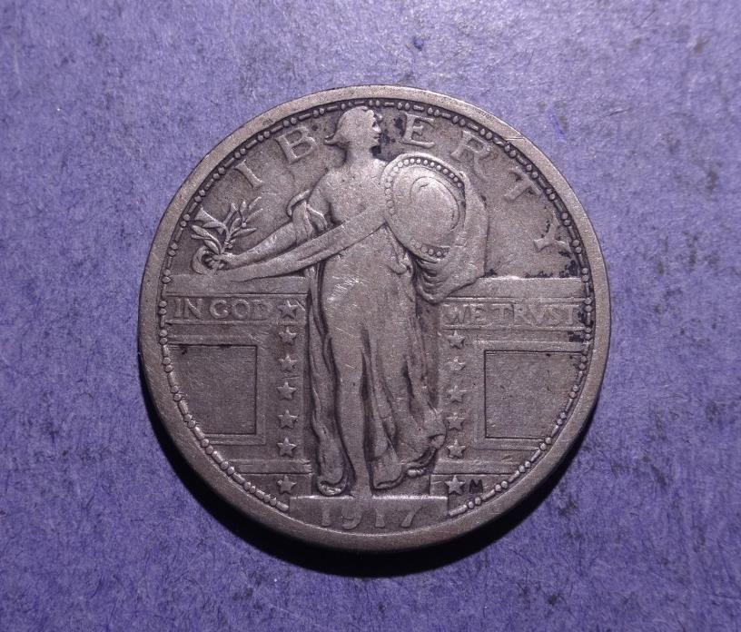 1917 Type I Standing Liberty Quarter Fine