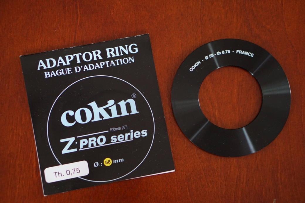 cokin z pro series adaptor ring 58mm