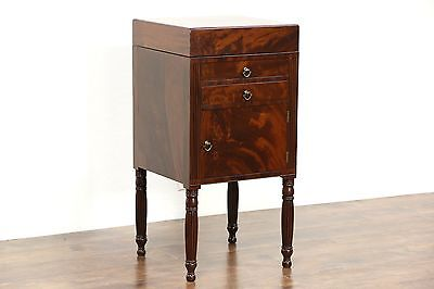 Georgian 1820 Antique English Wash Stand, Pedestal Cabinet or Nightstand