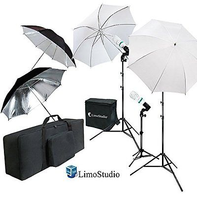 LimoStudio White Black Umbrella Reflector Photography Video Studio Continuous