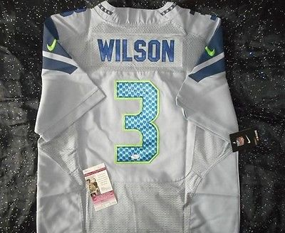 Russell Wilson Autographed Seahawks Signed NFL Jersey with COA Authentic