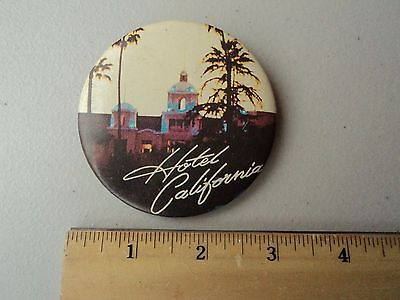 Vintage Hotel California Pin / Button Good Clear Front Graphic