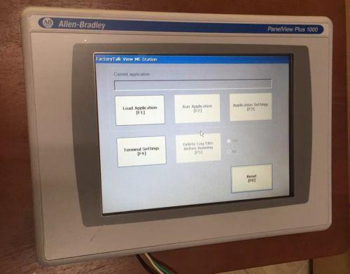 Allen Bradley Panelview Plus1000 2711P-RDT10C  Series B,2711P-RP 2A Logic Module