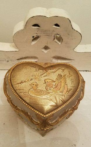 Linden Music box Dancer metal heart shaped ducks Japan