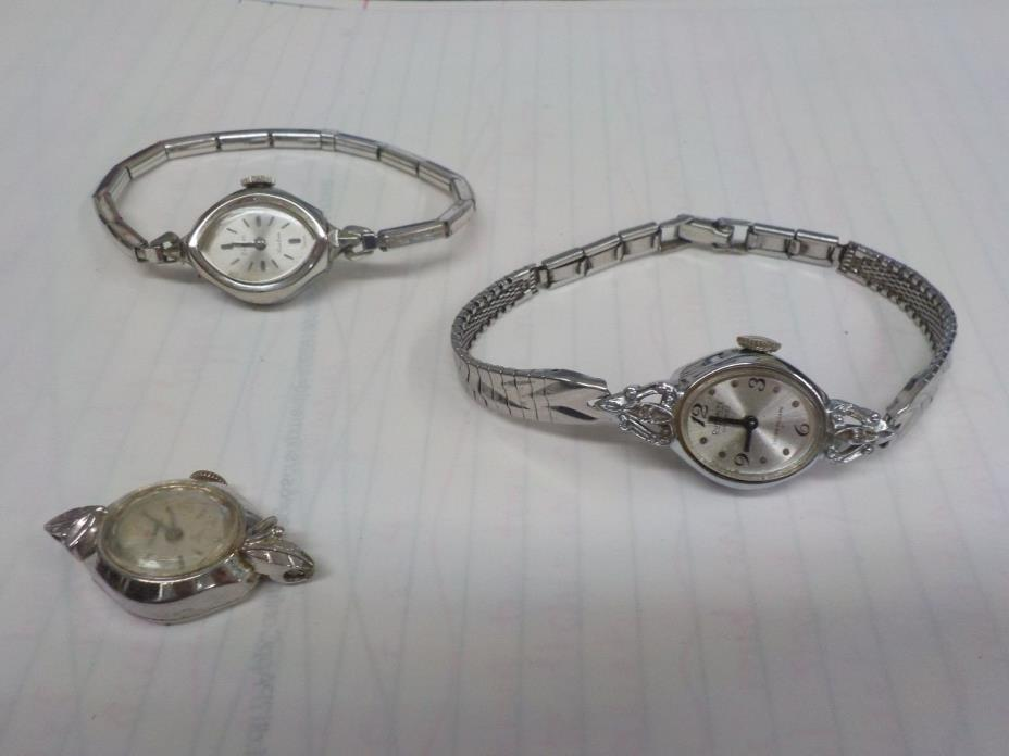 3 ladies mid century watches (helbros, zodiac, dufonte)