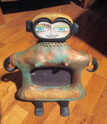 KIMBERLY WILLCOX-1995 Original Colorful-Whimsical Picture Frame-Mirror-Sculpture