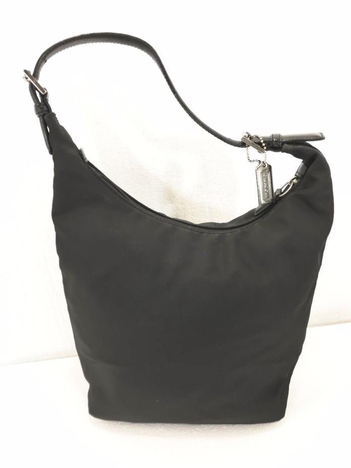 Coach Mercer Black Twill Hobo Shoulder Bag Handbag Purse 7423 with Hang Tag