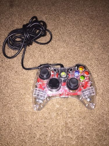 Clear Xbox 360 Wired Controller ( As Is )