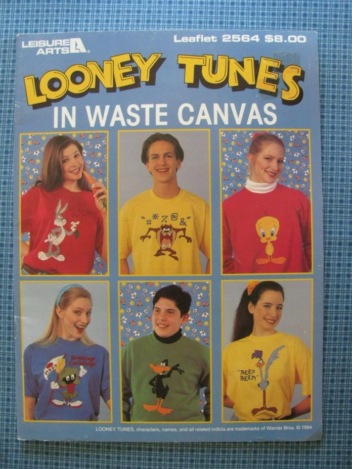 Looney Tunes In Waste Canvas Cross Stitch Leisure Arts Booklet