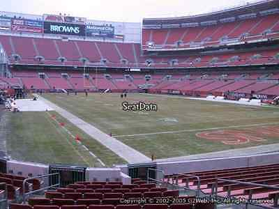 Cleveland Browns Season tickets only 4 rows from the field Section 117 row 4