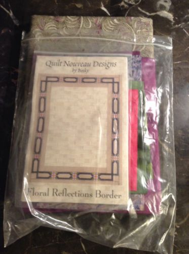 Quilt Nouveau Designs By Binky Floral Reflections Quilting Kit With Fabric