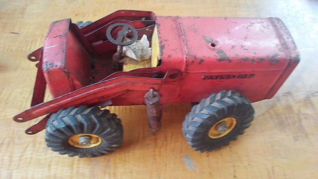 Antique Pressed Steel Toy Hough Front End PAYLOADER  Ny-Lint 1950s forparts