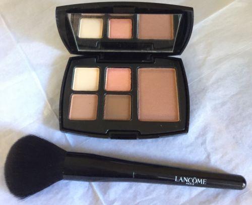 LANCOME Blush Subtil & Color Design Eyeshadow Palette & Blush/Bronzer BRUSH