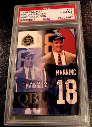 Peyton Manning 1998 Pinnacle Mint Collection RC Rookie PSA 10 Low Pop