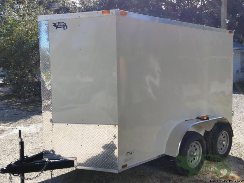 6x10 White Ext. Trailer with Xtra 3in. Height and 32 in. RV Side Door6x10 White...