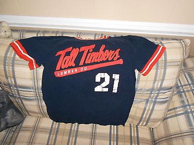 Tall Timbers blue youth baseball jersey #21  sz XL (12)