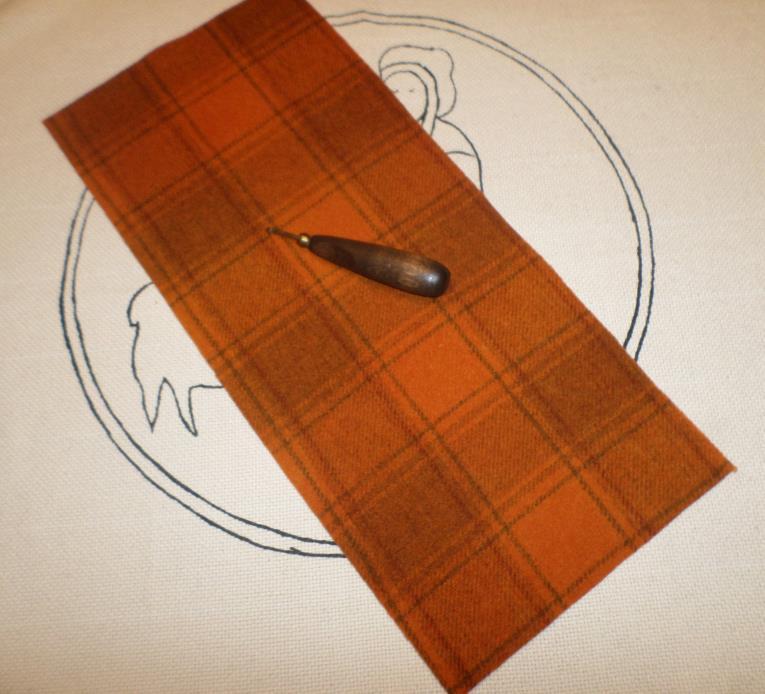 PRIM PUMPKIN, Hand Dyed Wool, Rug Hooking, Wool Applique, Penny Rugs,