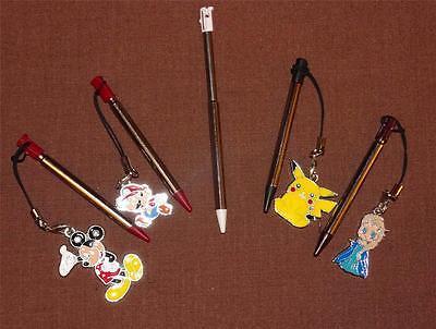 Lot 5  Metallic Stylus Pen For Nintendo 3DS  Mickey/Mario/Elsa/Pikachu US Seller