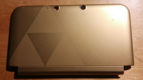 Official Nintendo 3DS XL Housing Top/Front Cover Gold Zelda Shell Part