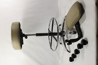Boss B16245-BG Caressoft Medical/Drafting Stool with Back Cushion - Preowned