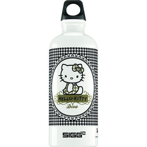 Sigg Water Bottle - Hello Kitty Pepita - .6 Liters - Premium Swiss Made