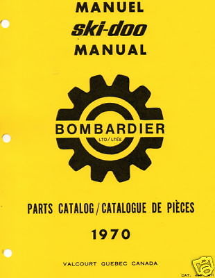 1970 SKI-DOO T'NT, OLYMPIQUE, NORDIC,  BLIZZARD PARTS MANUAL SNOWMOBILE  (932)