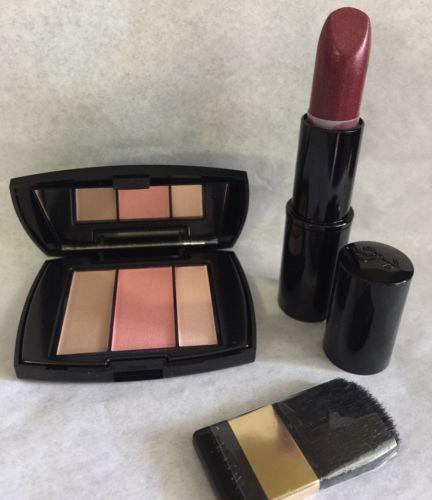 LANCOME BLUSH SUBTIL PALETTE (323 Rose Flush), Brush + FULL SIZE Lipstick